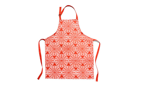 Apron Red Pattern