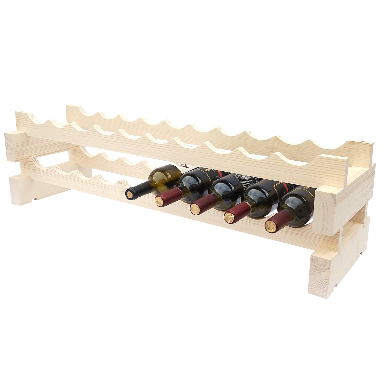 10 Bottle Modular Wine Rack