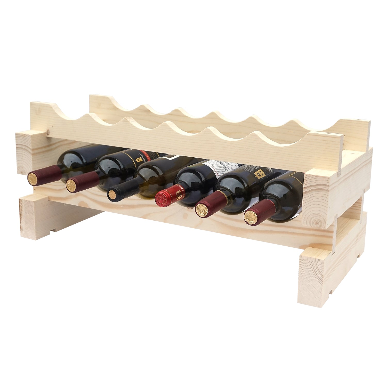 6 Bottle Modular Wine Rack