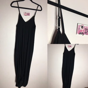 Strappy Black Maxi Dress
