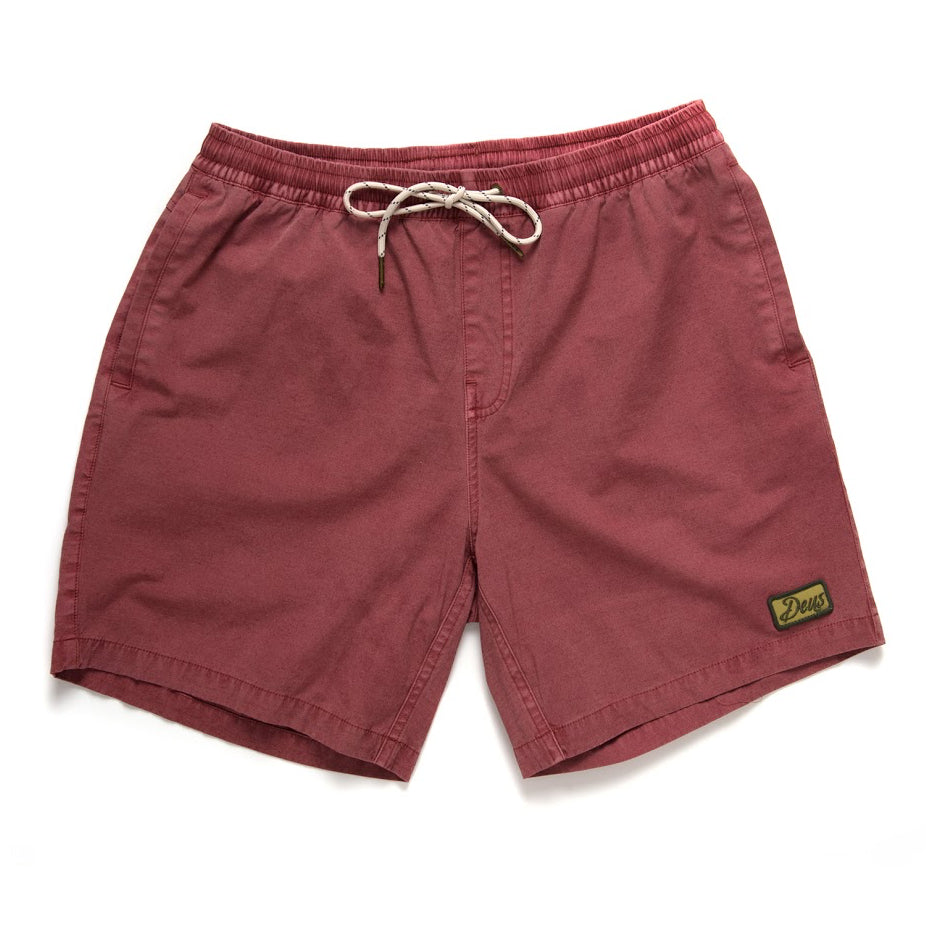 Deus Ex Machina Sandbar Solid Garment Dye Shorts | Red Ochre