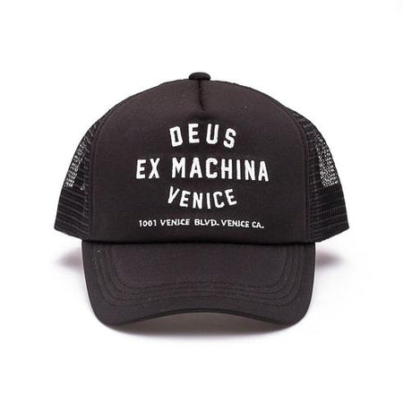 Venice Address Trucker Cap | Black