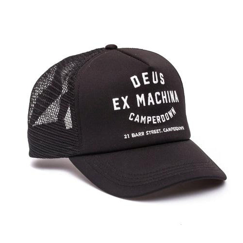 Deus Ex Machina Camperdown Address Trucker Cap | Black - TVSC