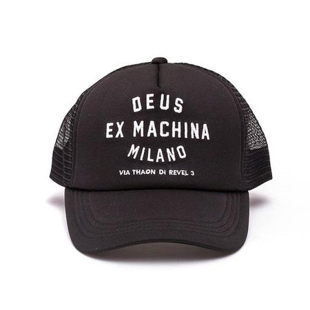 Deus Ex Machina Milano Address Trucker Cap | Black - TVSC
