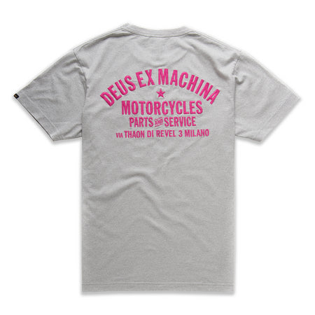 Deus Ex Machina Premium Milano T-Shirt | Grey back