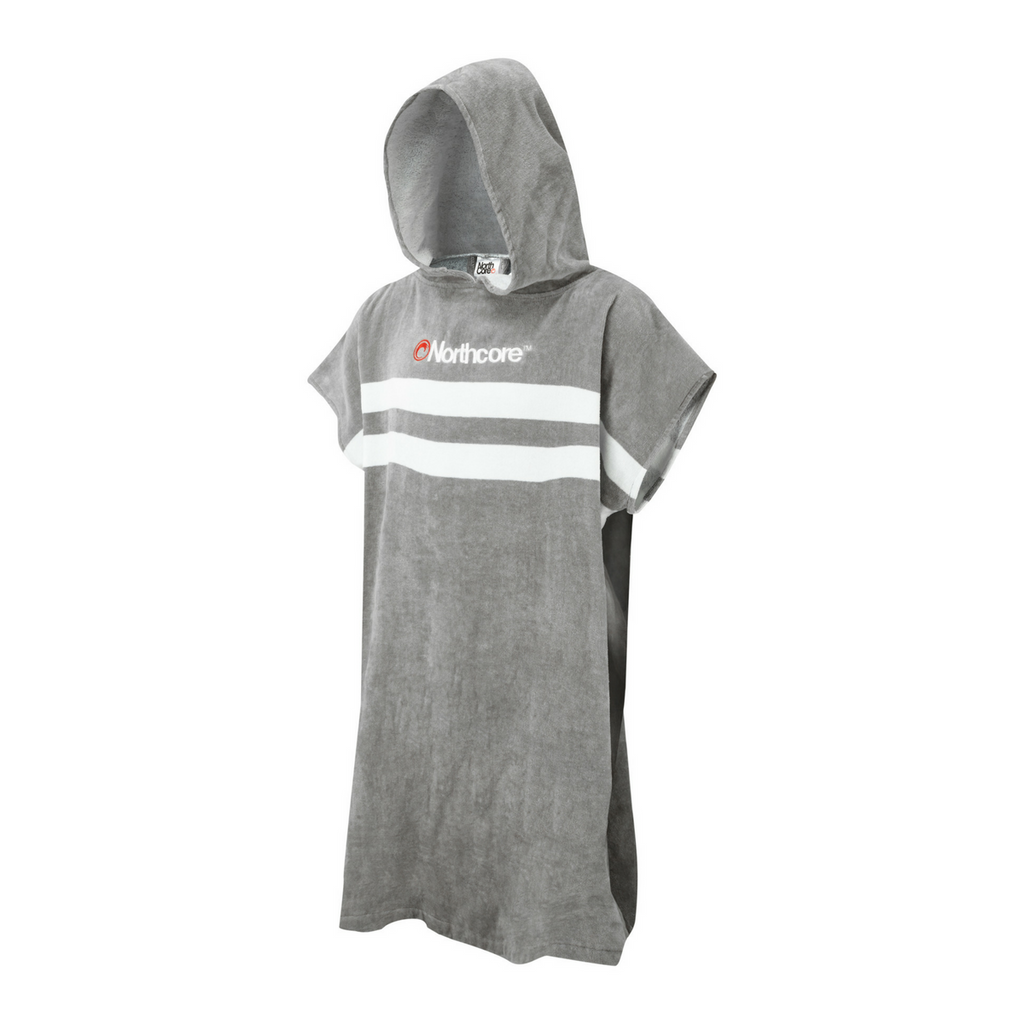 Stripey Beach Basha Changing Robe | Grey