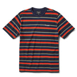 Washed Pique Tee | Multi Stripe