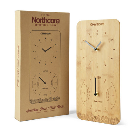 Northcore Bamboo Tide & Time Clock | Wall Mounted - TVSC