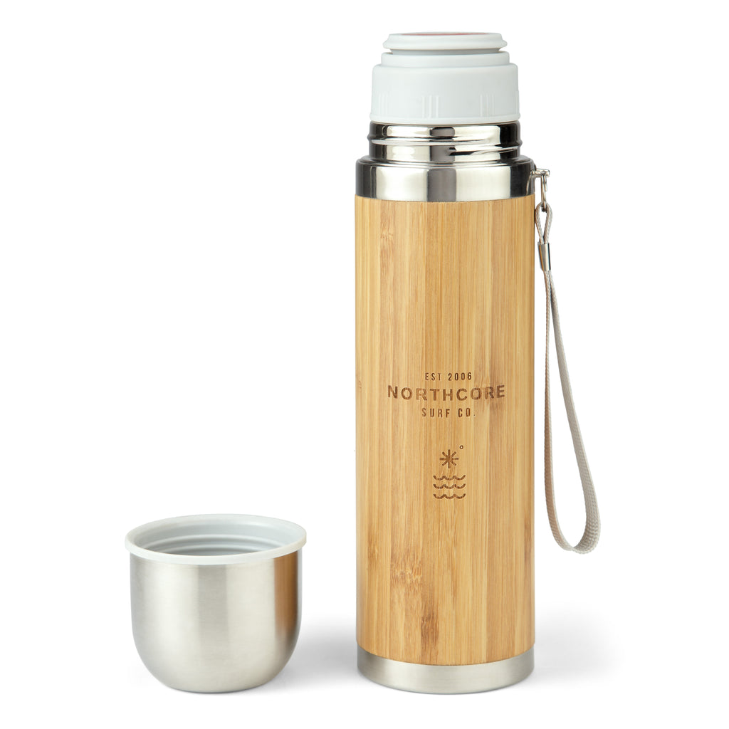 Northcore Bamboo Stainless Steel Thermos Flask with Mug - TVSC