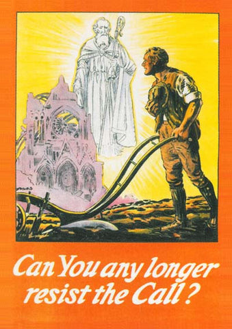 Resist the call WW1 poster