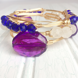 Blue Crystal Wire Bangle