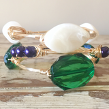 Green Crystal Bangle