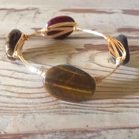 Brown Mother of Pearl Bangle