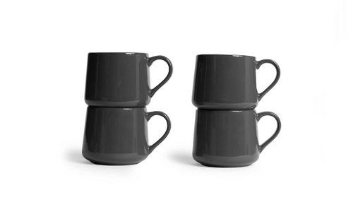 Small Crescent Mug Set - Gray