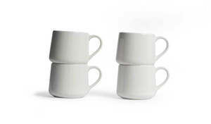 Small Crescent Mug Set - White