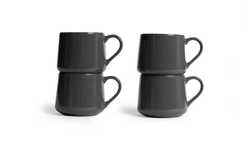 Large Crescent Mug Set - Gray