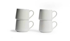 Large Crescent Mug Set - White