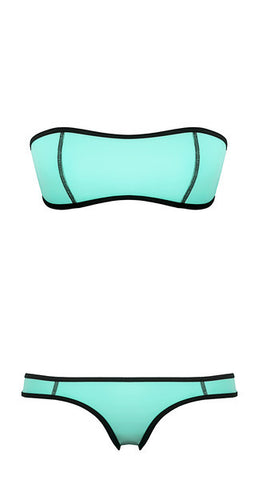 Aqua Blue Bandeau Set