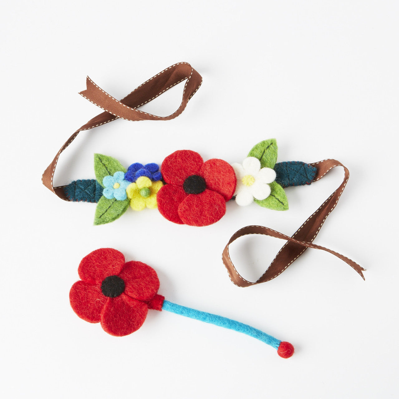Meadow Fairy Crown & Flower Wishing Wand