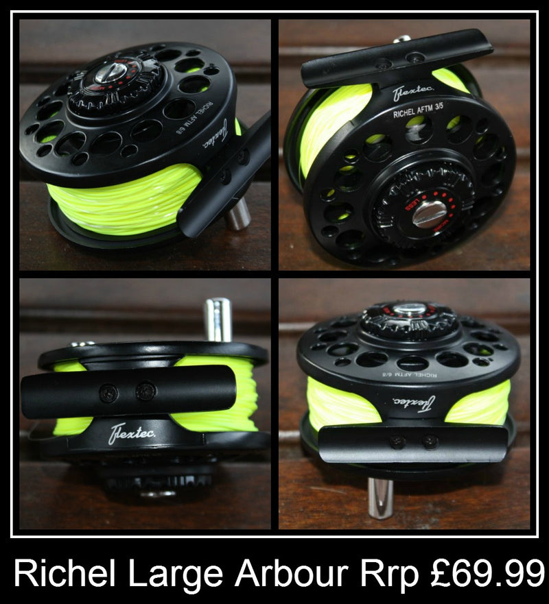 Richel Large Arbour Fly Reel preloaded with line,backing & leader