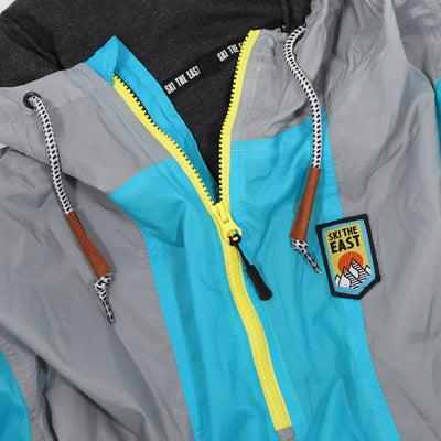 Gale Force Half Zip Windbreaker - Aqua Blast