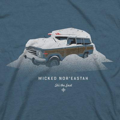 Wicked Nor'Eastah Tee - Indigo