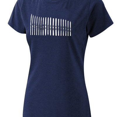 Women's Ski Quiver Tee - Midnight Navy