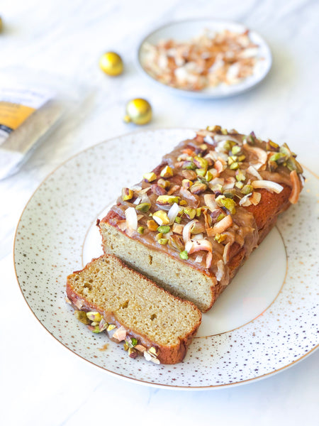 Banting Blvd's Gingerbread Loaf with Tahini Drizzle recipe