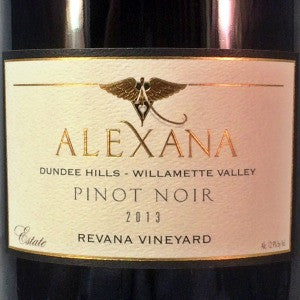 Alexana Estate Pinot Noir Revana Vineyard Willamette Valley Oregon, 2013, 750