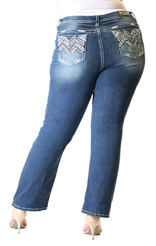 Distressed Plus Size Capri Jeans | PC-9257