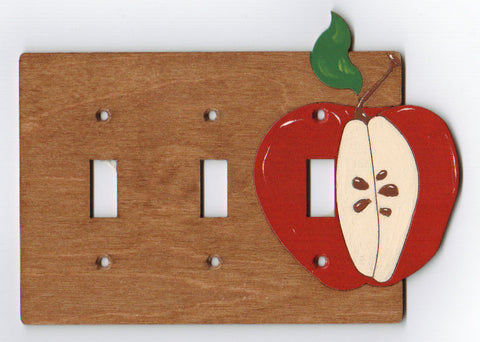 Apple Triple Switch Plate Cover