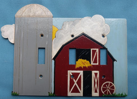 Barn triple switch plate cover