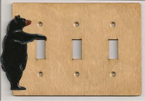 Bear Triple Switch plate