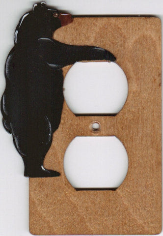 Bear single outlet switch plate cover