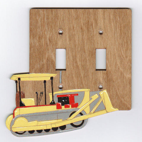 Bulldozer double switch plate cover