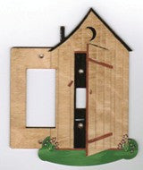 Outhouse rocker left with switch right switch plate cover