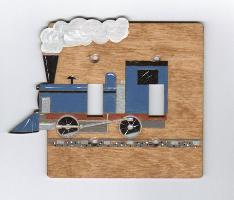 Train double switch plate cover