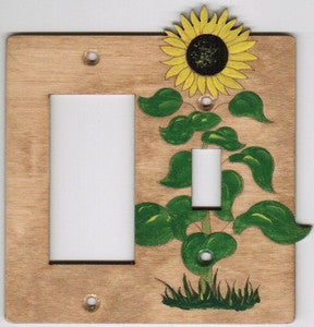 Sunflower rocker switch with right switch plate cover