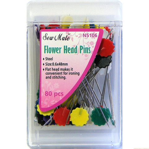 Flower Head Pins 0.6 x 48mm Sew Mate NS106