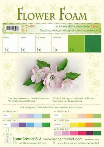 Flower Foam assortment Set 6 By Leane Creatief
