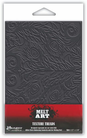 Melt Art Texture Treads Fancy Feathers By Ranger