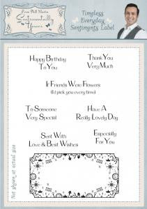 Timeless Everyday Sentiments Label Clear Stamp Set By Phill Martin