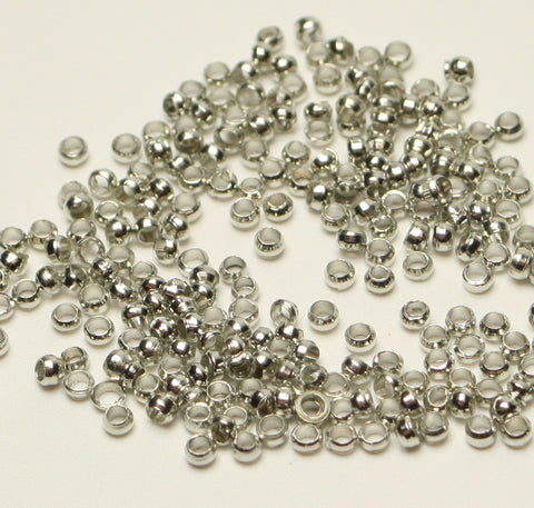 Crimp Beads Nickel Free 10g Approx 900pcs Platinum or Gold TRC132