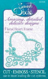 Floral Heart Frame Sweet Dixie