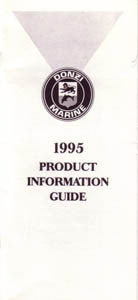 Donzi 1995 Dealer Fact Manual