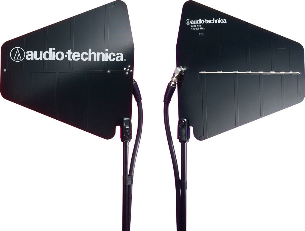 Audio-Technica ATW-A49 Pair of UHF wide-band directional LPDA (log-periodic dipole array) antennas (440-900 MHz)