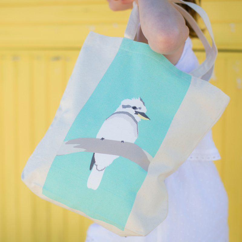 Kookaburra Canvas Tote by Cockatoo Collection