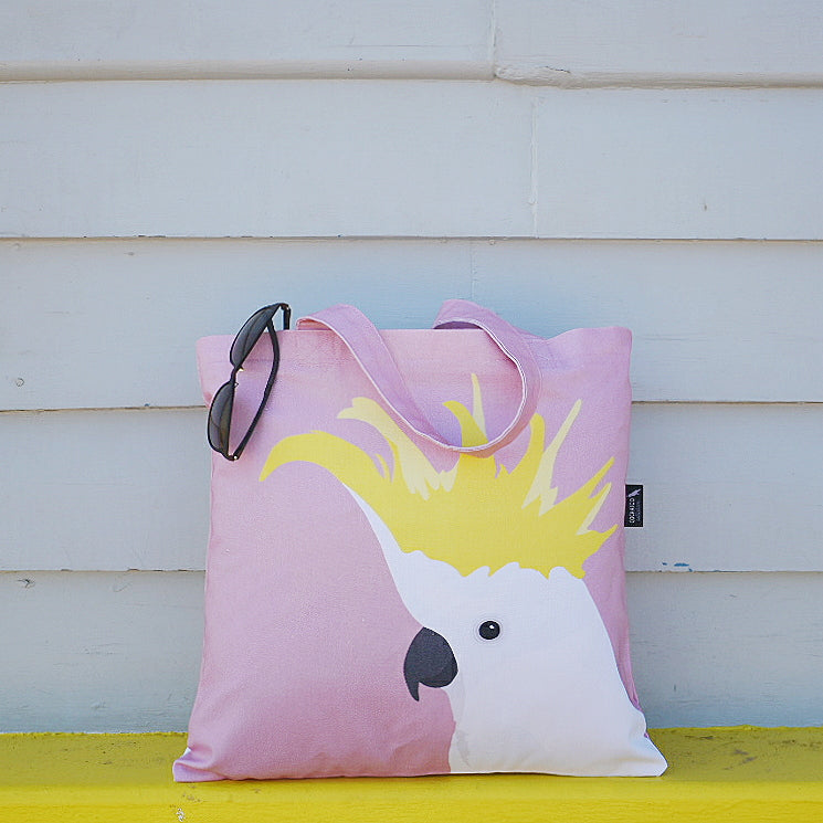 COCKATOO CANVAS BAG IN ROSE