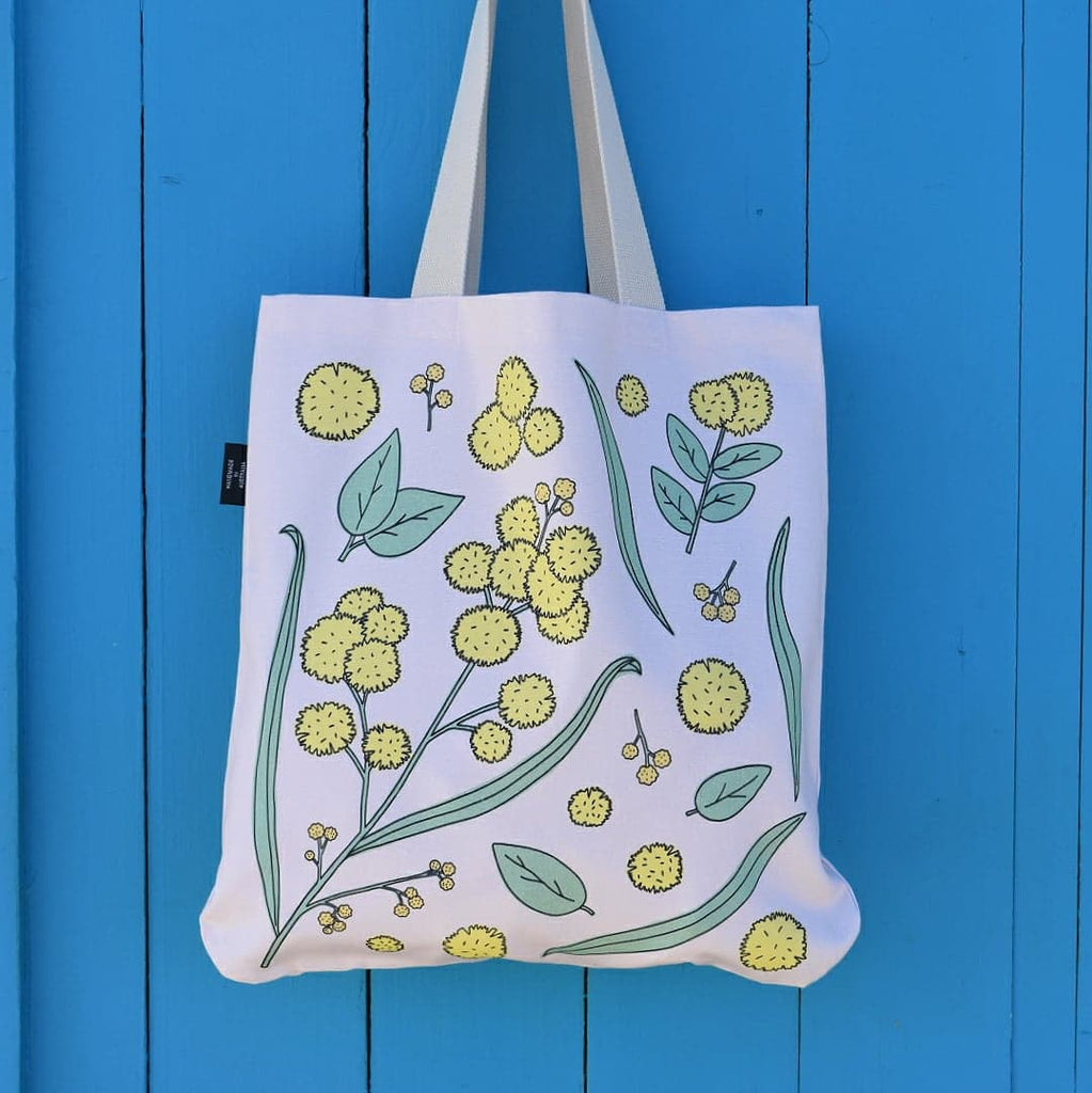 Golden Wattle Tote in Rose by Cockatoo Collection - Australiana Gift  / Australian Souvenir