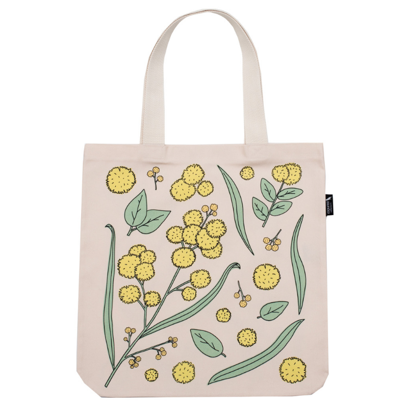 Golden Wattle Tote in Pale Rose by Cockatoo Collection - Australiana Gift